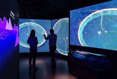 Bilde av merd i utstillingen